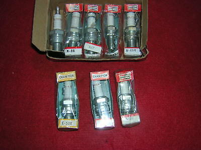 Champion Spark Plugs x 8. Assorted Lot.N52R/N86/N87/N60/E52R  New Old Stock B76