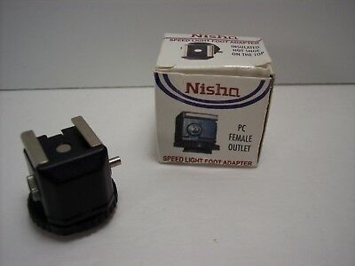 Nisha Speed Light Flash Foot Adapter with PC Outlet Fast Free Shipping