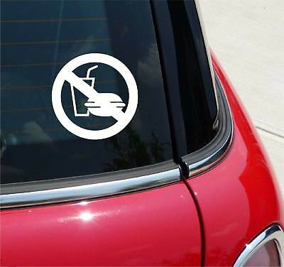 No Food Or Drink Business Store School Office Graphic Decal Car Wall Decor