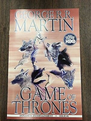GAME OF THRONES 1 ALEX ROSS NEGATIVE VARIANT COVER Dynamite George RR Martin HBO