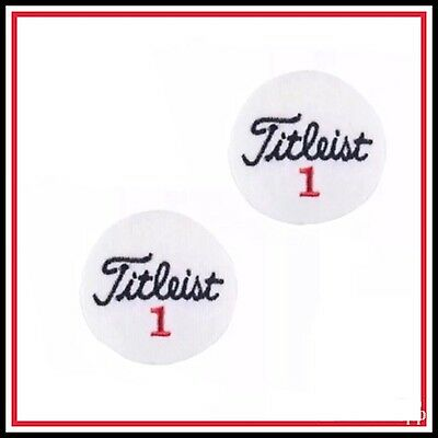 "Lot of (2) Titleist Golf PGA Vintage Embroidered Iron On Patch (NOS) 2"" EACH"