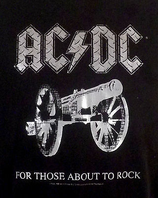 euc vtg throwback AC/DC For Those About To Rock T-Shirt cannon SZ XL