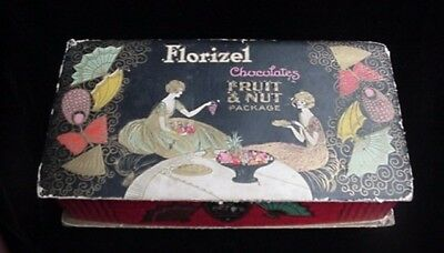 Antique Art Deco Colorful Cardboard Candy Fruit Nuts Box Spokane Wa Portland Or