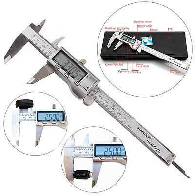 150mm LCD Digital Vernier Electronic Caliper Micrometer Guage Stainless Steel US