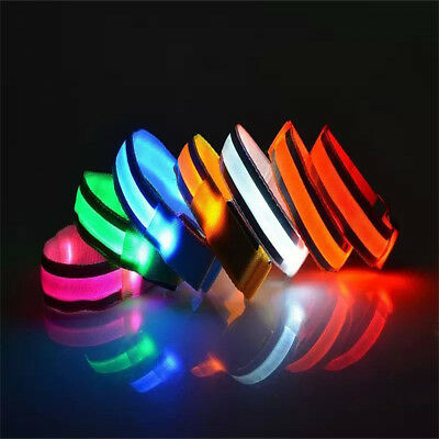 Reflective LED Light Arm Armband Strap Safety Belt For Night Running Cycling Hot
