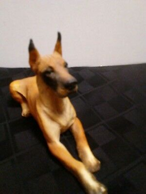 vintage 1988 Great Dane cropped Dog Collectible Figurine Statue Castagna Italy