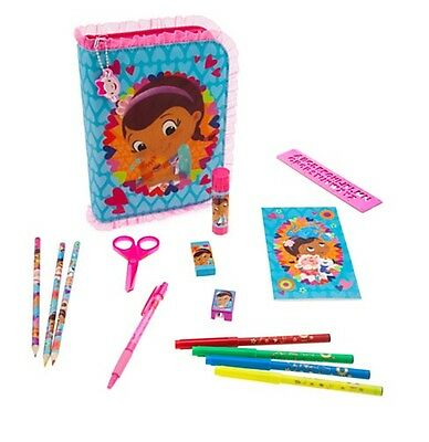 Disney Store Doc McStuffins Zip-Up Stationery Art Marker Pencil Set Case NWT