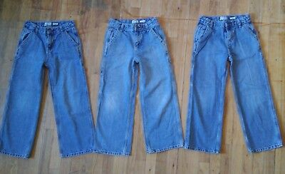 Lot 3 pairs OshKosh Relaxed Fit Carpenter Jeans - Boys Size 8 Regular