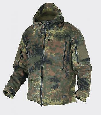 HELIKON TEX PATRIOT FLEECE Outdoor Kapuzen JACKE Jacket Bundeswehr Flecktarn L