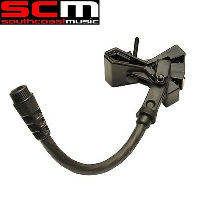 """ACCETERA M1-E5 Base Mic Clamp Male w/ 5"""" Extension Attach Microphones To Stands"""
