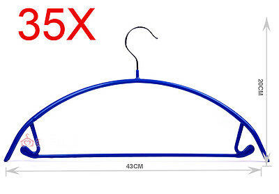 New Blue S 43*20 CM Non-Slip Stainless Steel Hanger Hook Wholesale Lots 35 PCS