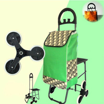 E196 Rugged Aluminium Luggage Trolley Hand Truck Folding Foldable Shopping Cart