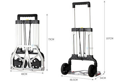 E60 Rugged Aluminium Luggage Trolley Hand Truck Folding Foldable Shopping Cart