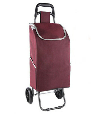 E155 Rugged Aluminium Luggage Trolley Hand Truck Folding Foldable Shopping Cart