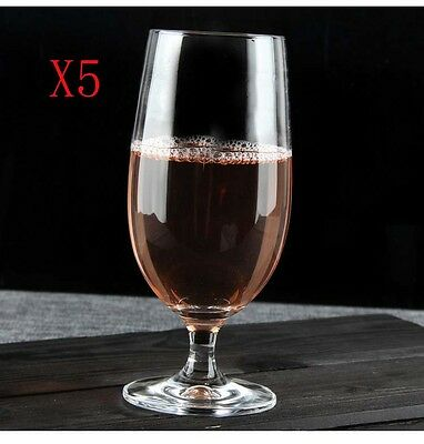 New 5X Capacity 400ML Height 170MM Transparent Red Wine Glass/Glassware %