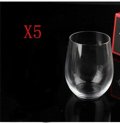 New 5X Capacity 320ML Height 96MM Transparent Red Wine Glass/Glassware %