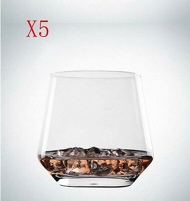 New 5X Capacity 306ML Height 83MM Transparent Whisky Wine Glass/Glassware %