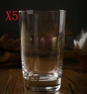 New 5X Capacity 290ML Height 125MM Lead Free Whisky Wine Glass/Glassware %