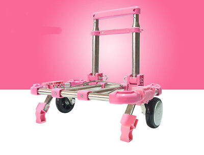 E49 Rugged Aluminium Luggage Trolley Hand Truck Folding Foldable Shopping Cart