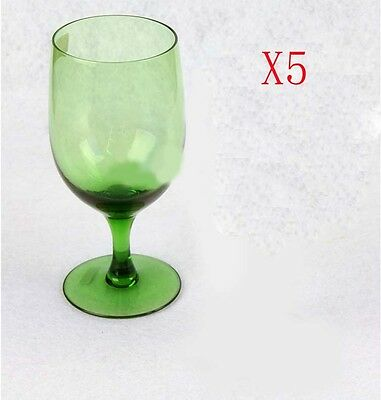 New 5X Capacity 470ML Height 170MM Green Transparent Red Wine Glass/Glassware %