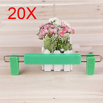 Child Thicken Green S 26 CM PP Plastic Trouser Hook Wholesale Lots 20 PCS