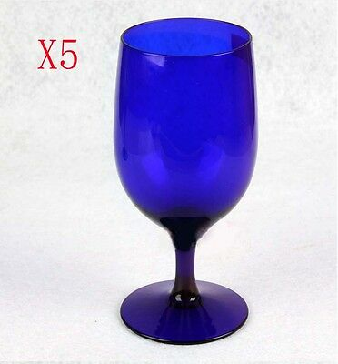 New 5X Capacity 470ML Height 170MM Creative Blue Red Wine Glass/Glassware %