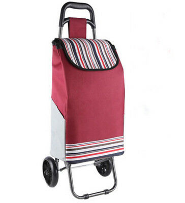 E154 Rugged Aluminium Luggage Trolley Hand Truck Folding Foldable Shopping Cart