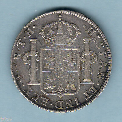 Mexico. 1806-TH  8 Reales..  Mexico Mint..  VF