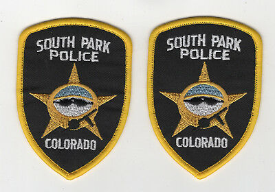 South Park Police Set (2) embroidered Patch 3 1/2 inches long