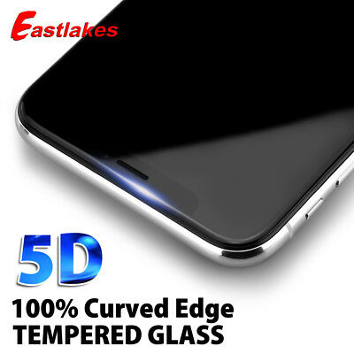 5D Full Cover Tempered Glass Screen Protector For Apple iPhone X 8 7 6s 6 Plus S