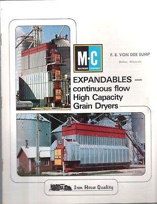 Vintage 1982 Mc Mathews Company Grain Dryers  Brochure