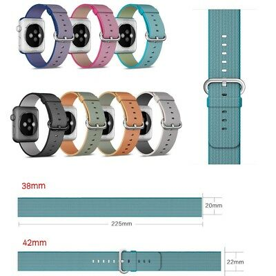 Hot Weave Sports Nylon Wrist Bracelet Strap For Apple Watch iWatch Band 38/42mm