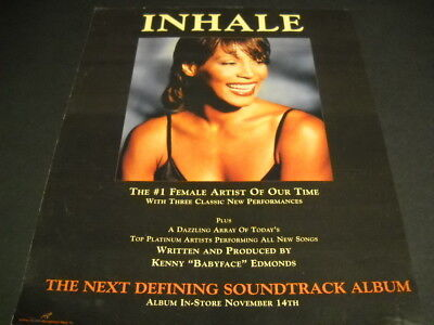 WHITNEY HOUSTON Inhale...The #1 Female Artist Of Our Time 1995 PROMO DISPLAY AD