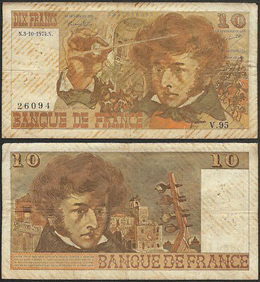 FRANCE - 10 francs 1974 P# 150a Europe banknote - Edelweiss Coins
