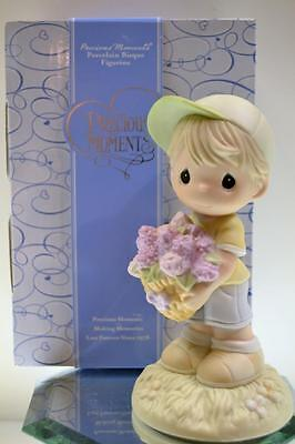 Precious Moments Figurine HEART OF A MOTHER Boy 640001 New in Box FREEusaSHP