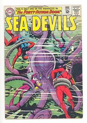 SEA DEVILS #21  DC 1965 - Howard Purcell Art - Jack Miller Story - VG+