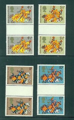 Great Britain 1974 Britons  Gutter Pairs SG 958-961 MNH
