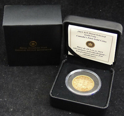 1913 Canada 10$ Dollars, .900 Gold Coin Canada's First Gold Coin