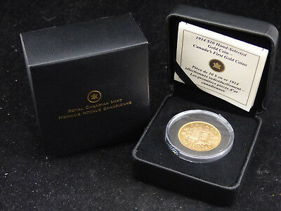 1914 Canada 10$ Dollars .900 Gold Coin Canada's First Gold Coin