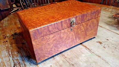 Early 19Th Century Tiger Maple Birdseye Box Sewing