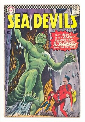 SEA DEVILS #28  DC 1966 - Howard Purcell & Jack Adler Art - VG-