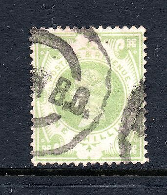 Great Britain (9892) Queen Victoria 1887  1/- Dull Green used Sg211 Cat £75