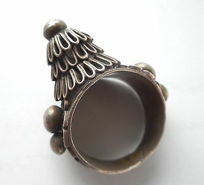 Old Coin Silver Hill Tribe Tribal Hmong Man's Ring Laos SE Asia