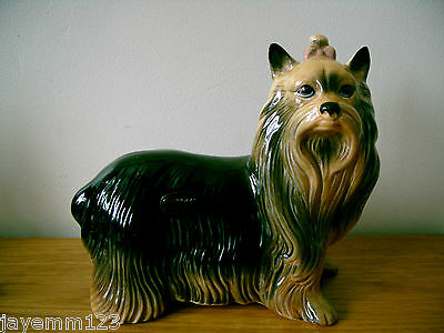 Dog Yorkshire Terrier Coopercraft Large Size Standing Gloss Good Condition Rare