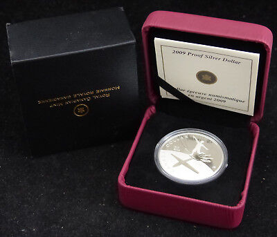 2009 Canada 1$ Dollar Sterling Silver Coin 100Th Anniversary Of Flight In Canada