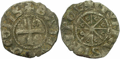 FORVM VF County of Tripoli Bohemond V Denier Cross Pattée / Star Scarce