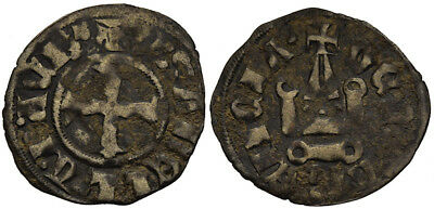 FORVM VF Crusaders Corinth Greece Princess Isabella of Villehardouin Denier