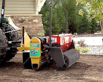 Harley Power Landscape Rake 6' Tractor,3 Pt Hitch Mount,Hyd Angle w/Power Seeder