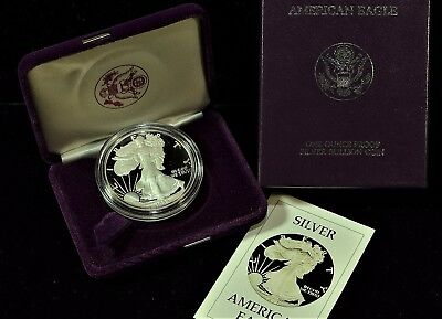 1986 Proof American Silver Eagle in Original Government Packaging