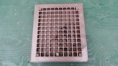 "Vintage Tin Floor Grille Heat Grate Register 14"" long x 12"" wide with Louvers"